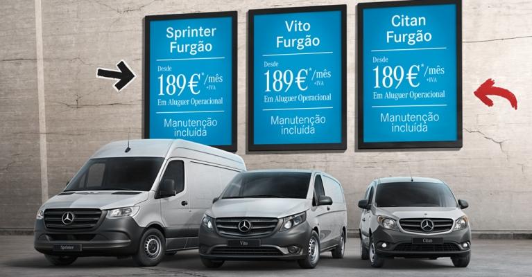 Mercedes-Benz Renting Select & Drive com manutenção incluída