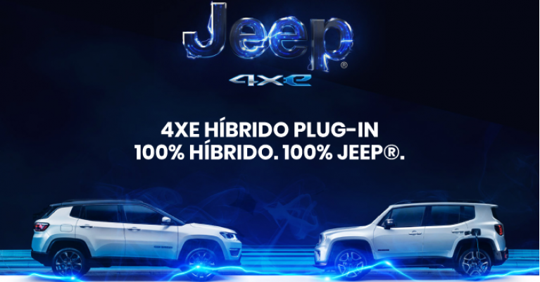 NOVO JEEP® RENEGADE E COMPASS 4xe 4XE HÍBRIDO PLUG-IN